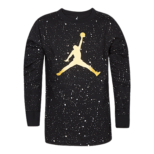 3265db9ea Nike Jordan Boys  Jumpman Speckle Long Sleeve Shirt