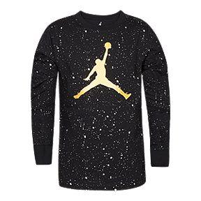 Nike Jordan Boys  Jumpman Speckle Long Sleeve Shirt e4e108676f