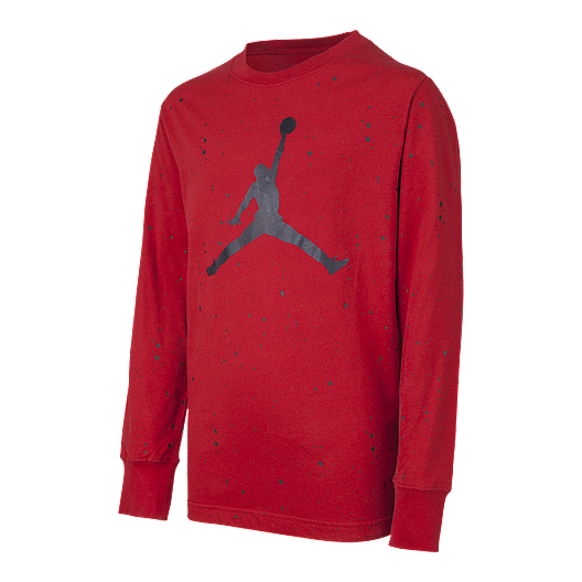 low priced ef55e 0f362 Nike Jordan Boys  Jumpman Speckle Long Sleeve Shirt   Sport Chek