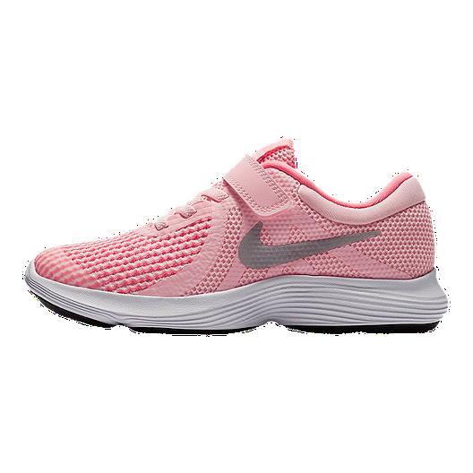 2a70d95beeaf Nike Girls  Revolution 4 Preschool Shoes - Arctic Punch Metallic Silver