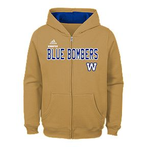 f6798307152 Child Winnipeg Blue Bombers Stated Full Zip Hoodie