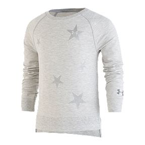 cdeb470dd51 Under Armour Girls' 4-6X Starry Pullover Crew Shirt