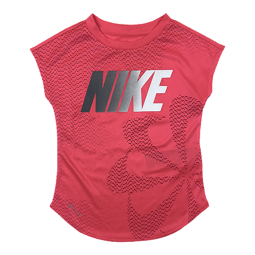 e59e9e6e4 Nike Girls' 4-6X Pinwheel DF Modern T Shirt - RACER PINK