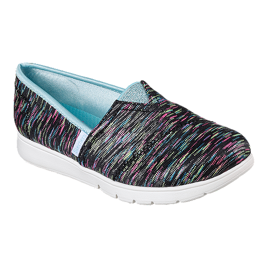41ad9c605177 Skechers Girls  Pureflex Slip On Shoes - Black Silver