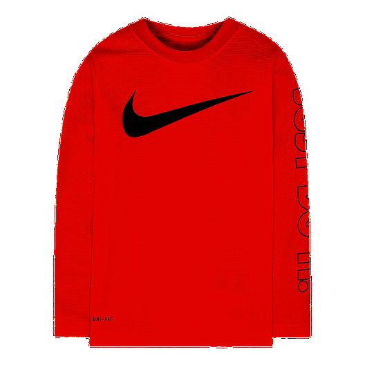 91265260 Nike Toddler Boys' Swoosh Just Do It DF Thermal Long Sleeve Shirt   Sport  Chek