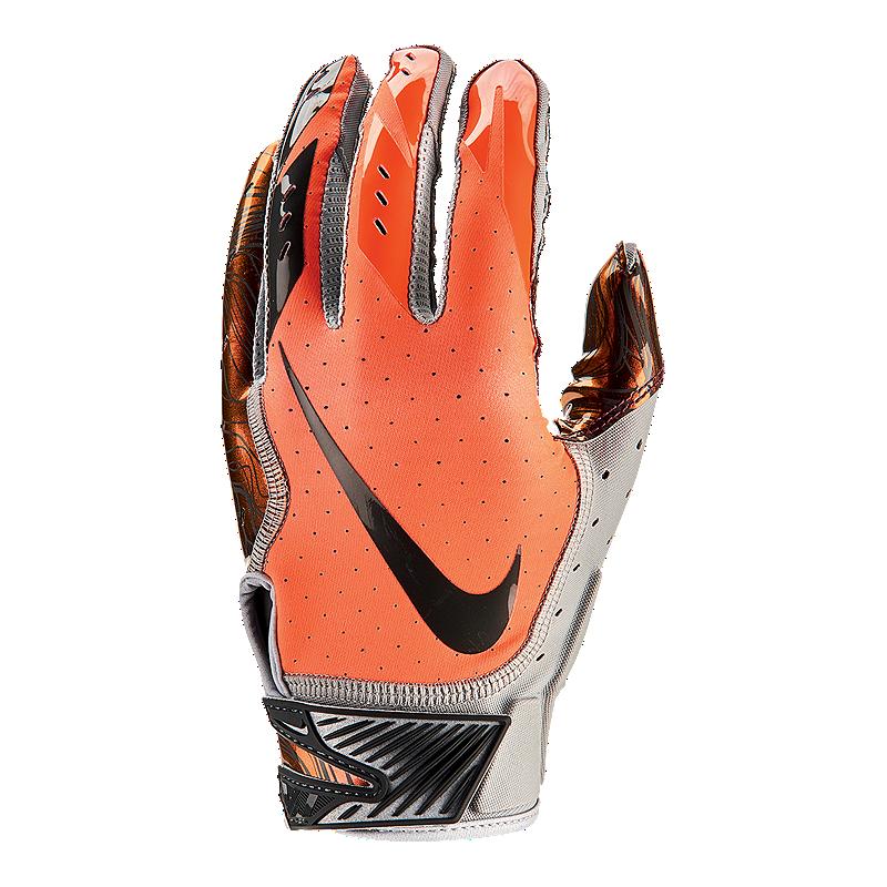 reputable site e77df 38e06 Nike Vapor Jet 5.0 Football Gloves - Grey Orange   Sport Chek