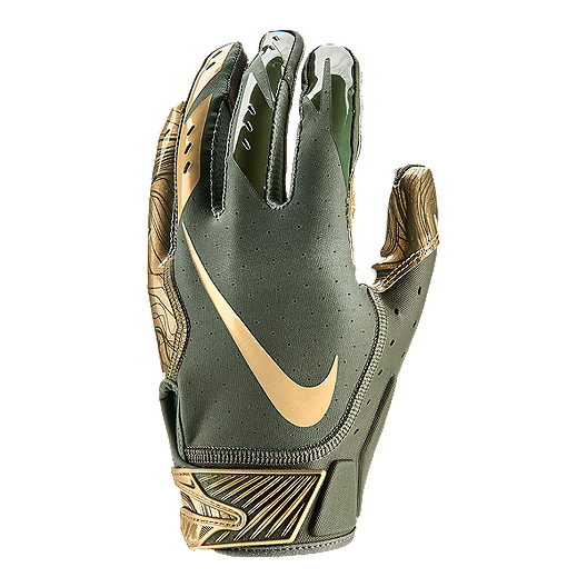 c7c2340f37a7 Nike Vapor Jet 5.0 Football Gloves - Olive Gold