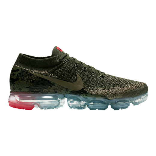136f2e5ac7 Nike Men's Air VaporMax Flyknit Running Shoes - Olive Camo/Cargo - NEUTRAL  OLIVE/