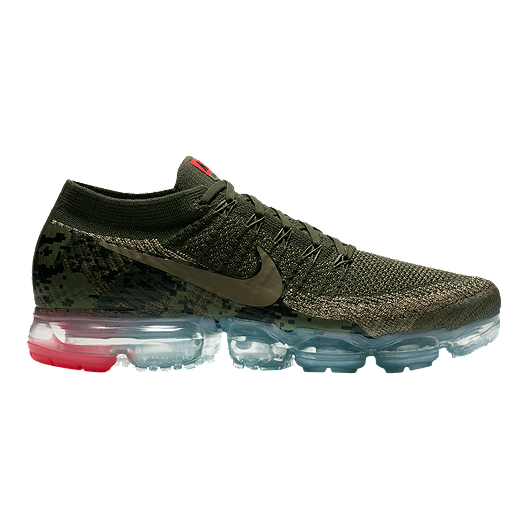 ded1c8719b284 Nike Men s Air VaporMax Flyknit Running Shoes - Olive Camo Cargo ...