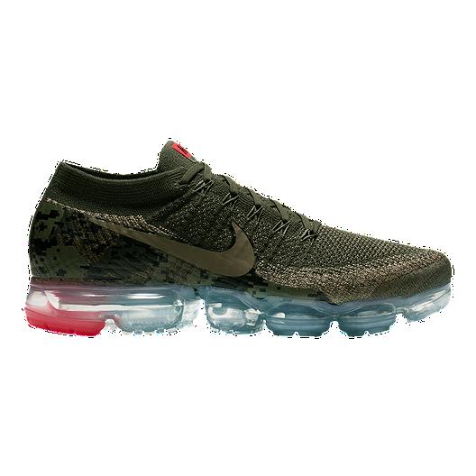 huge selection of 9e523 79e22 Nike Men s Air VaporMax Flyknit Running Shoes - Olive Camo Cargo   Sport  Chek