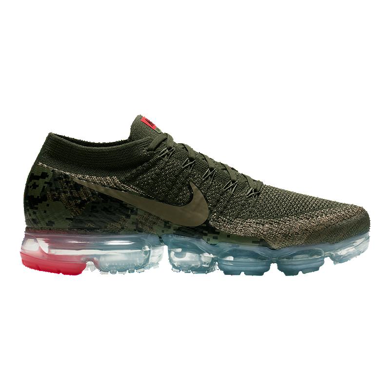 26c521a76b7a67 Nike Men s Air VaporMax Flyknit Running Shoes - Olive Camo Cargo ...