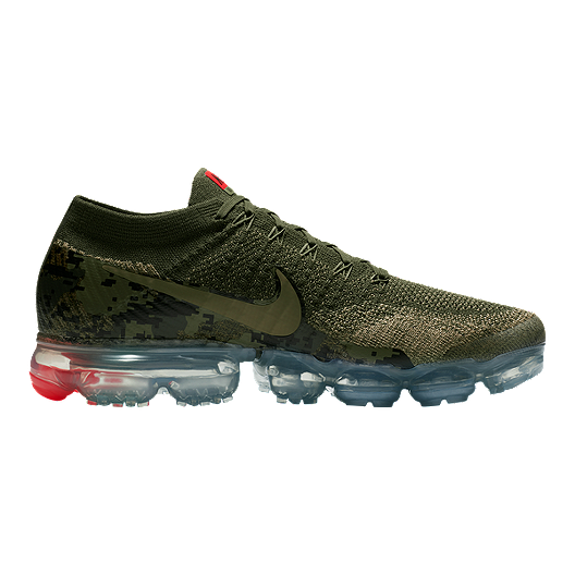 fc931276e61d2 Nike Men's Air VaporMax Flyknit Running Shoes - Olive Camo/Cargo ...