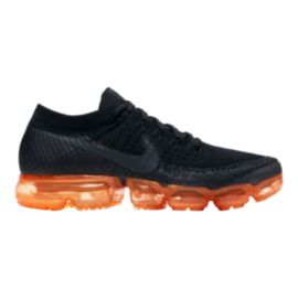 Nike Men's Air VaporMax Flyknit Running Shoes - Black/Orange Pop