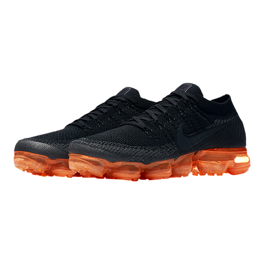 low priced 5ca06 e237d Nike Men's Air VaporMax Flyknit Running Shoes - Black/Orange ...