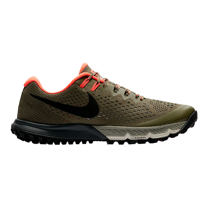 7fea6eb45f18 Nike Men s Air Zoom Terra Kiger 4 Running Shoes - Olive Black ...
