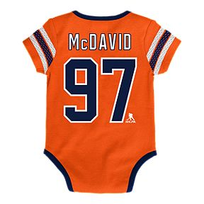 ea7f1838302 Infant Edmonton Oilers Connor McDavid Cherry Picking Creeper