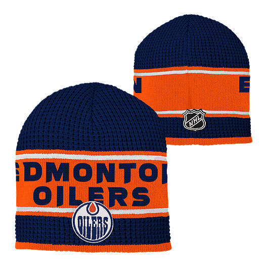 75f59292001 Edmonton Oilers Youth Enforcer Knit Beanie. (0). View Description