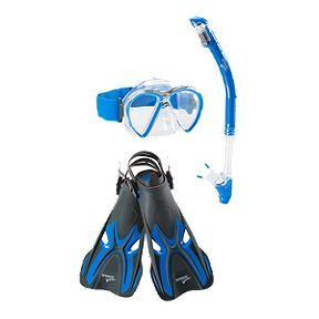 7b15ad09688b Speedo Reef Seeker Snorkel Set - Blue