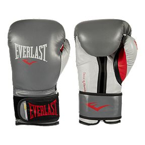 74b6072e3 Everlast 16oz Powerlock Training Glove - Grey Red