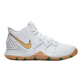Nike Boys' Grade School Kyrie 5 Lucky KSA Basketball Shoes - White/Gold