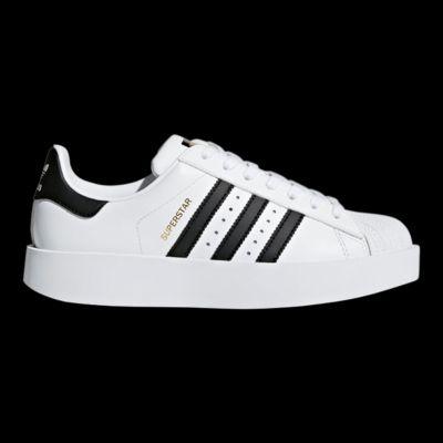 adidas superstar audace delle scarpe con la zeppa bianco / nero sport chek