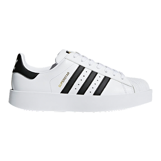 ec22d5290eab adidas Women s Superstar Bold Platform Shoes - White Black