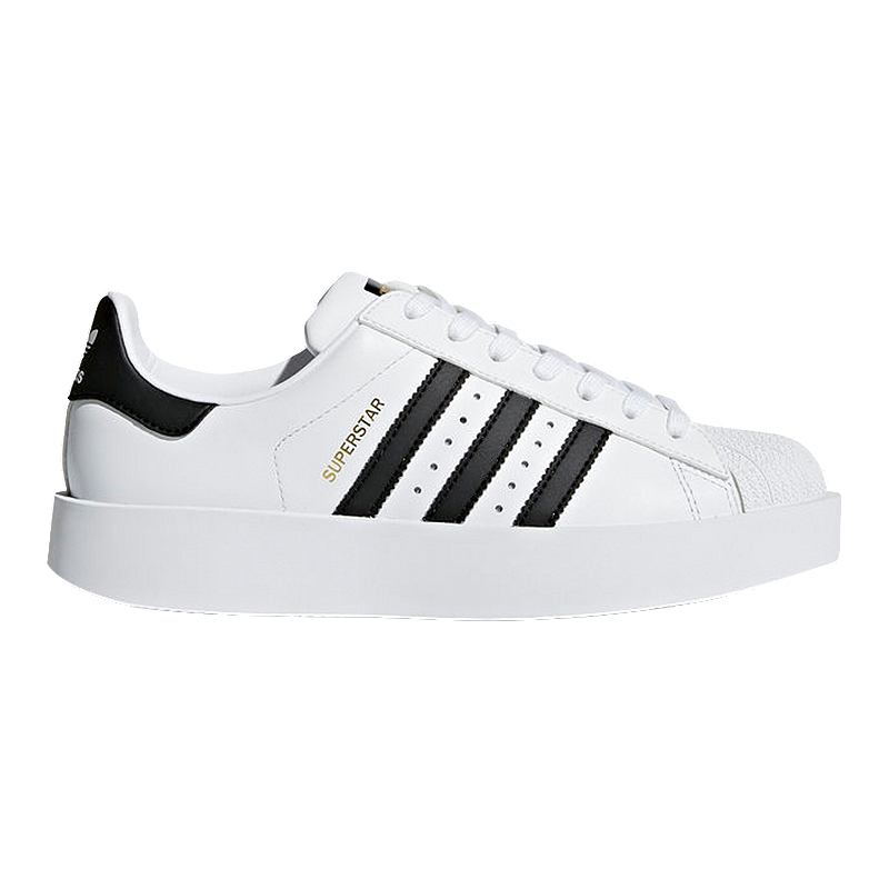 254bdc12d34 adidas Women s Superstar Bold Platform Shoes - White Black