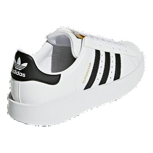 buy online 6afa5 499ac adidas Women's Superstar Bold Platform Shoes - White/Black ...