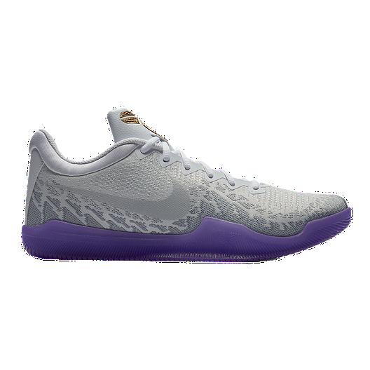 official photos ed0c9 2164d Nike Men s Mamba Rage Basketball Shoes - White Purple Metallic Gold   Sport  Chek