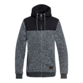 Quiksilver Men's Keller Block Full Zip Hoodie - Dark Grey