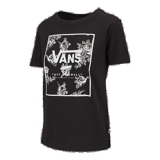 8511f0e48d16d Vans Women s Boxed Logo Floral T Shirt