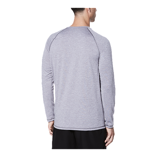 97b54208 Nike Men's Solid Heather UPF Long Sleeve Hydroguard - Gunsmoke. (0). View  Description