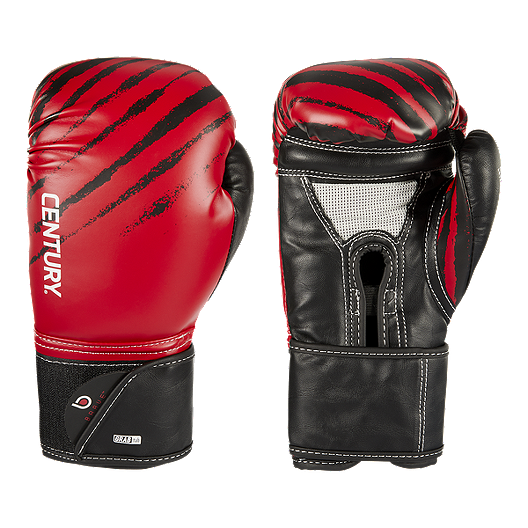 Black//Blue Century Brave Hook and Loop Training Boxing Gloves
