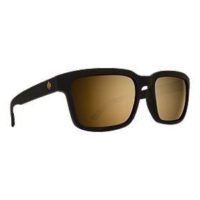 716bc32d3b Spy Helm 2 Sunglasses - Matte Black with Happy Bronze  Gold Spectra Lenses