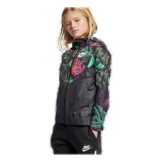 7e0711b4b Nike Girls' Sportswear Windrunner Glow Botanical Jacket | Sport Chek