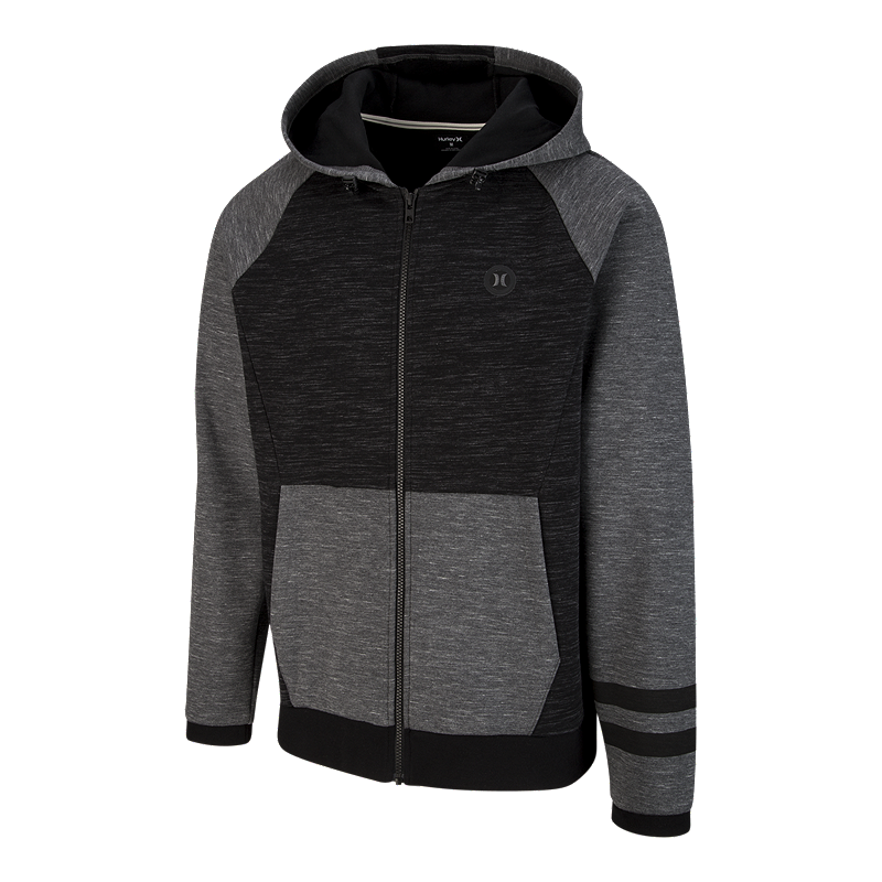 08c56e18fd8 Hurley Men s Phantom Paradise Full Zip Hoodie -Black