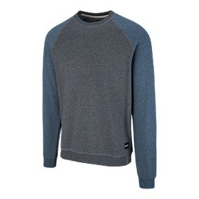 c6489d07bc38 Hurley Men s Crone Crew Sweater - Obsidian Heather