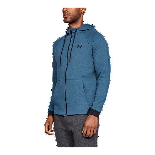 637969f55 Under Armour Men's Sportstyle Double Knit Full Zip Hoodie - Petrol  Blue/Black | Sport Chek