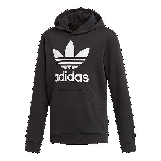 a6cd7c1f6650 adidas Originals Boys  Trefoil Hoodie - Black