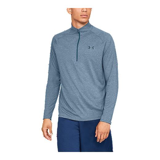 b83f6b68 Under Armour Men's Tech 1/4 Zip Long Sleeve Shirt - Petrol Blue - PETROL