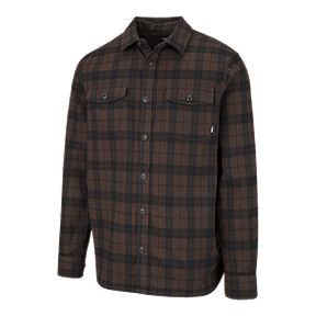 831d78796b1b0c Vans Men s Blackstone Long Sleeve Flannel Shirt - Demitasse Black