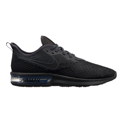 new style a5fc1 346f3 Nike Men s Air Max Sequent 4 Running Shoes - Black Anthracite - BLK BLK