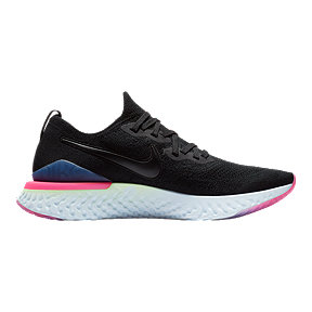 Nike Men's Epic React Flyknit 2 Running Shoes - Black/Sapphire/Lime