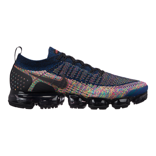 7f0a0359ffd Nike Men s Air Vapormax Flyknit 2 Running Shoes - Black Pink Blue ...