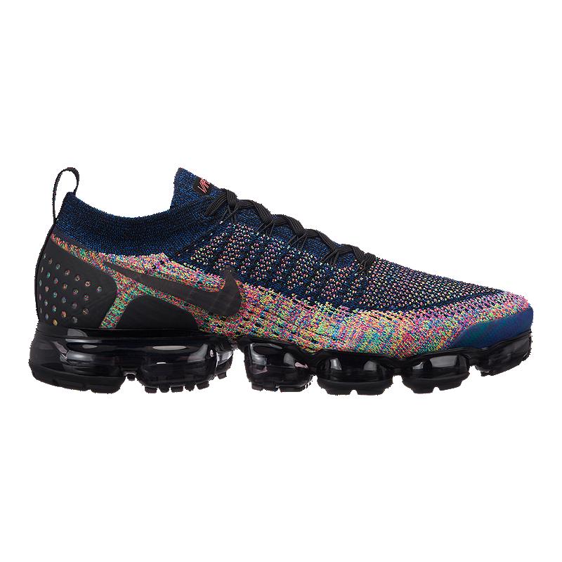 c91c50ac74 Nike Men's Air Vapormax Flyknit 2 Running Shoes - Black/Pink/Blue | Sport  Chek