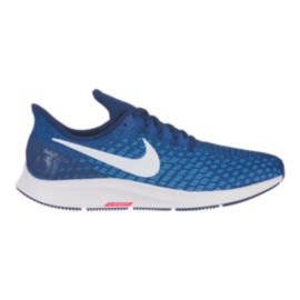 Nike Men's Air Zoom Pegasus 35 Running Shoes - Navy/White/Blue