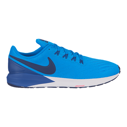 best service 614f5 76851 Nike Men's Zoom Structure 22 Running Shoes - Blue