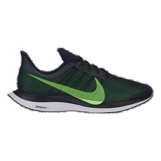 b349700826c9 Nike Men s Zoom Pegasus 35 Turbo Running Shoes - Black Green Grey ...