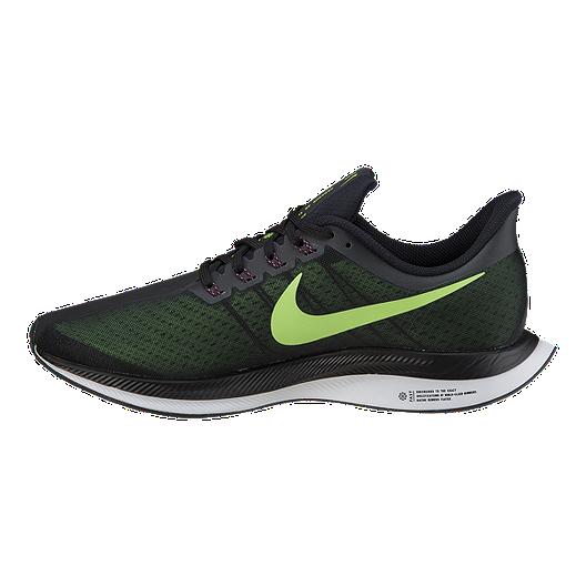 eaaf680a5fe83 Nike Men s Zoom Pegasus 35 Turbo Running Shoes - Black Green Grey ...