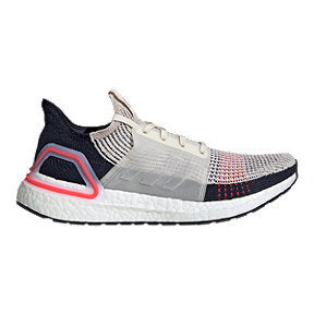 adidas Men's Ultraboost 19 Running Shoes - Brown/White/Shock Red
